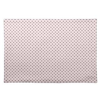Pink Grey Polka Dots Placemats