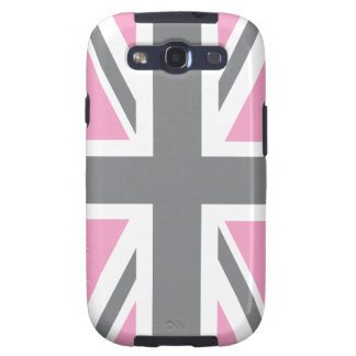 Pink Grey Union Jack British(UK) Flag Samsung Galaxy SIII Case