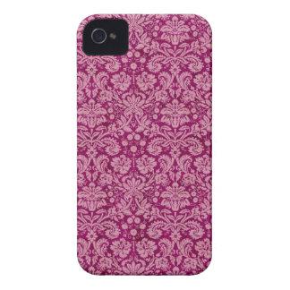 Pink Grunge Damask Pattern iPhone 4 Cover