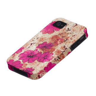 Pink Grunge Floral iPhone 4 Casemate Vibe iPhone 4 Case