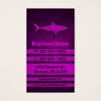 Pink grunge shark custom business cards