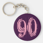 Pink Grunge Style Number 90 Keychains