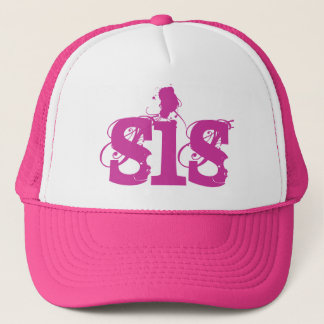 PINK Grunge Text SIS Trucker Hat