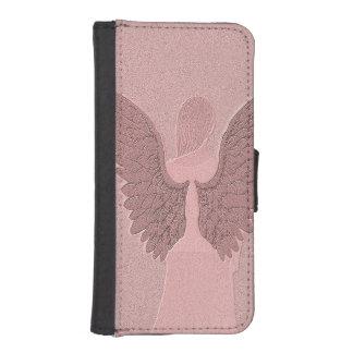 Pink Guardian Angel iPhone SE/5/5s Wallet Case