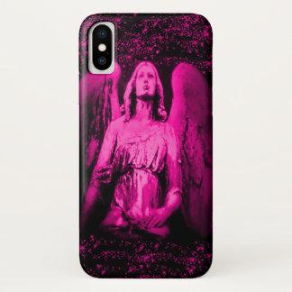 Pink Guardian Angel Wings Glitter Case