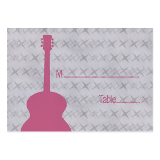 Pink Guitar Grunge Place Card Pack Of Chubby Business Cards