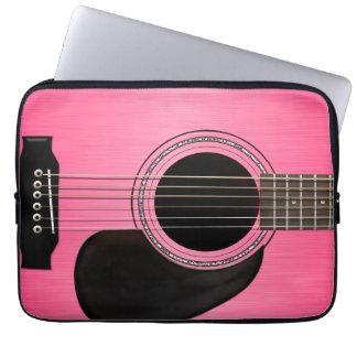 Pink Guitar Laptop Sleeve