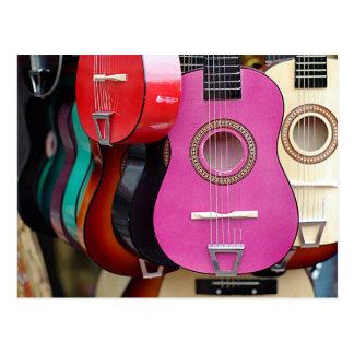 Pink Guitar Postcard