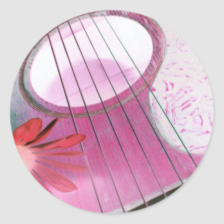 pink guitar strings stickers