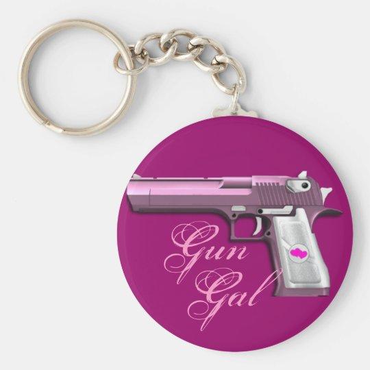 Pink Gun Gal Ladies key chain keychain fob gift