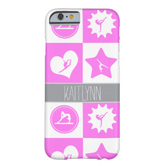 Pink Gymnastics 4 Squares Personalized Case Barely There iPhone 6 Case