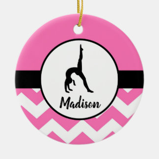 Pink Gymnastics Ornament