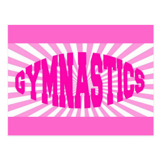 Pink Gymnastics Postcard