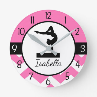 Pink Gymnastics Wall Clock