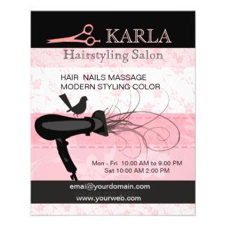Pink Hair Beauty Salon Stylist Care Hairstylist 11.5 Cm X 14 Cm Flyer