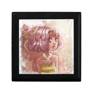 Pink Hair Heart Necklace Girl Jewelry Boxes