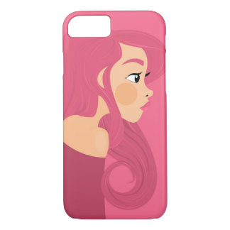 Pink Hair iPhone 7 Case