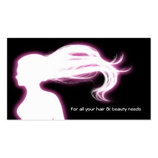 pink Hair Salon businesscards Business Card