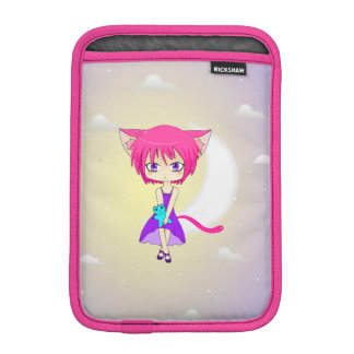 Pink Haired Neko Anime Girl, iPad Mini Sleeve