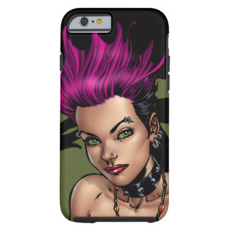 Pink Haired Punk Rock Alternative Girl by Al Rio iPhone 6 Case