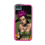 Pink Haired Punk Rock Alternative Girl by Al Rio Case For iPhone 5/5S