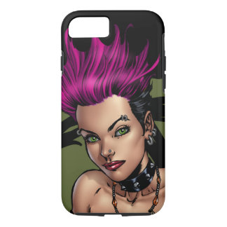 Pink Haired Punk Rock Alternative Girl by Al Rio iPhone 7 Case