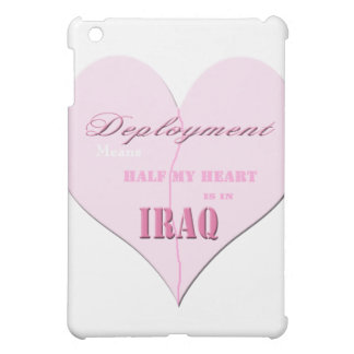 Pink Half Heart Deployment Iraq IPad Case