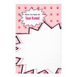 Pink Halftone Pop Art Stationery