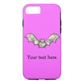 Pink Halloween Bat And Heart iPhone 8/7 Case