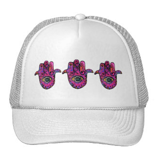 PINK HAMSA TRUCKER HAT