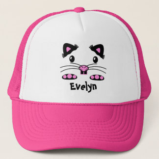 Pink hamster mouse trucker hat