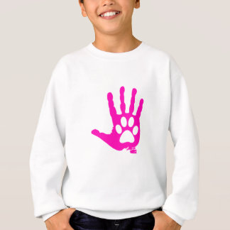 Pink Hand With Paw Great Gift Sweatshirt