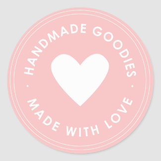 Pink Handmade Goodies Sticker