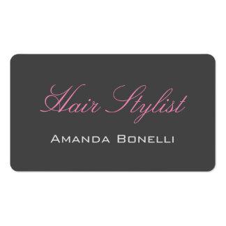 Pink Handwriting Grey Hair Stylist Artist Pack Of Standard Business Cards
