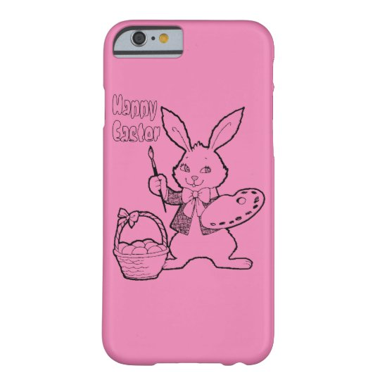 Pink Happy Easter Bunny iPhone 6 Case