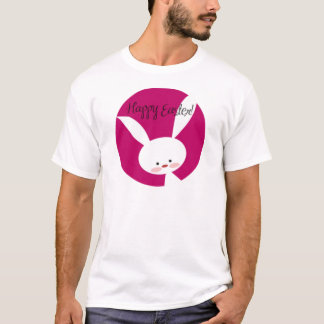 Pink Happy Easter Bunny T-Shirt