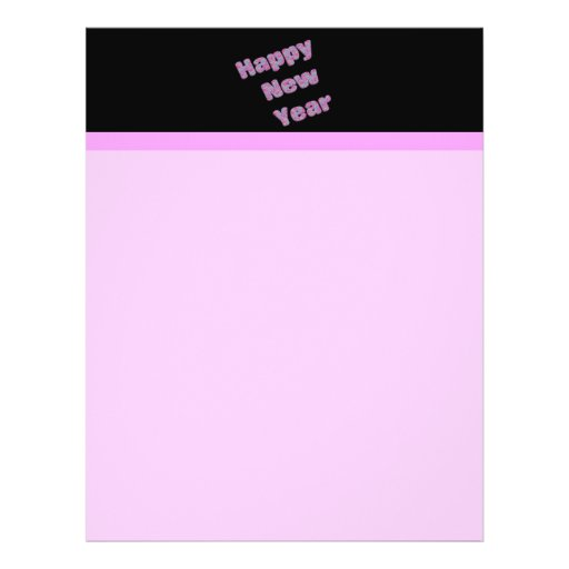 pink Happy New Year Full Color Flyer