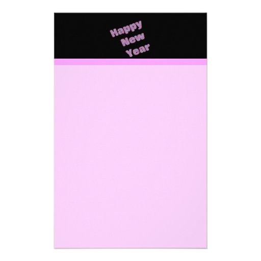 pink Happy New Year Stationery Design