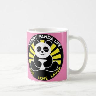 Pink - Happy Panda Life Sunshine Coffee Basic White Mug