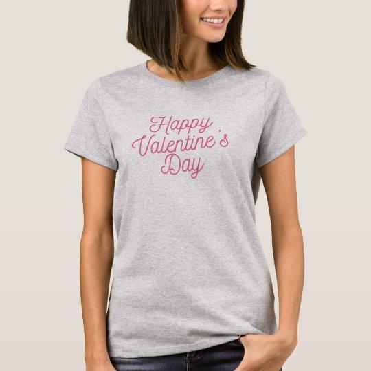 Pink Happy Valentine's Day Shirt