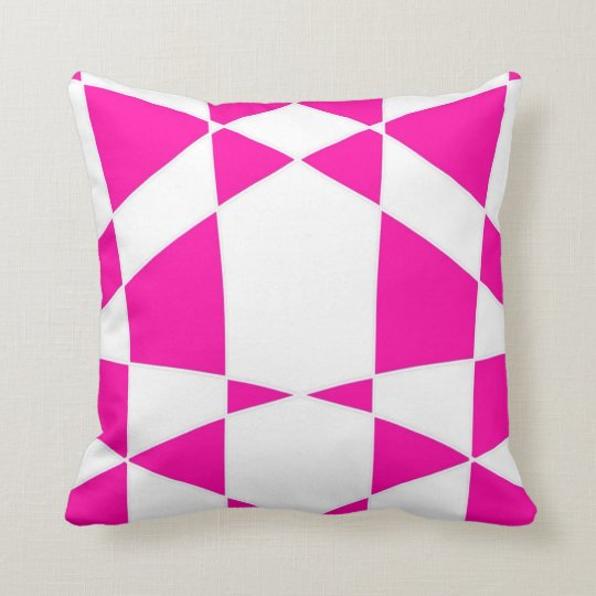 Pink Harlequin Print Design Cushion