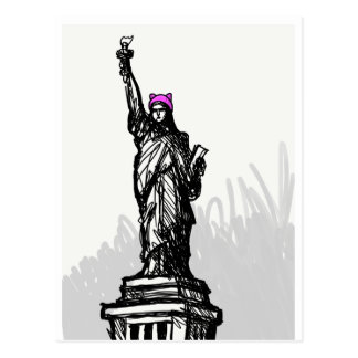 Pink Hat Liberty Postcard