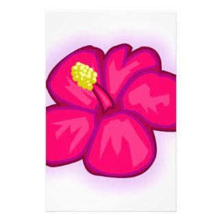 Pink Hawaii Flower Stationery