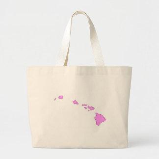 pink hawaiian island canvas bags