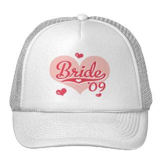 Pink Heart 09 Bride Cap Mesh Hat