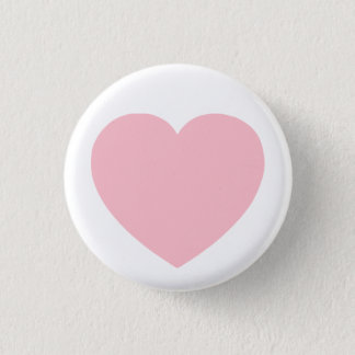 Pink Heart 3 Cm Round Badge
