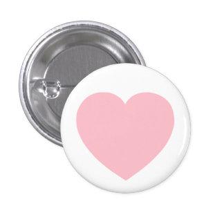 Pink Heart 3 Cm Round Badge