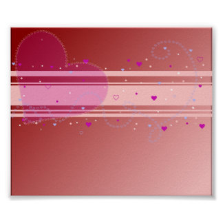 Pink Heart Abstarct Design Poster