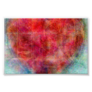 Pink Heart Abstract Art Design Photographic Print