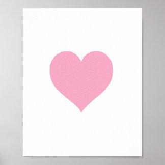 Pink Heart - Art Print